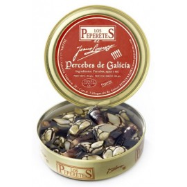 Preserved Percebe (Goose Barnacles) from Galicia, Conservas Los Peperetes, can 150 gr.