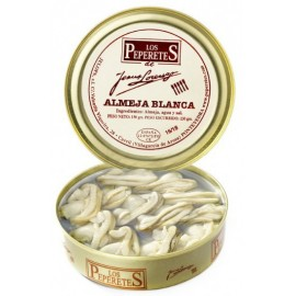 White Clam Canned, Conservas Los Peperetes, can 150 gr. 20/24 pcs.