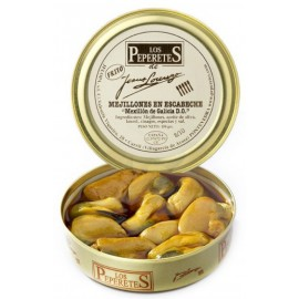 Marinated (Escabeche) Mussels Canned, Conservas Los Peperetes, can 150 gr. 10/12 pcs.